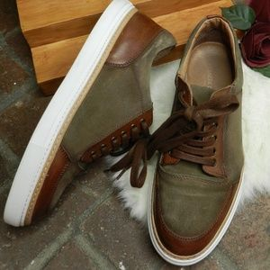 kenneth cole NY brown leather suede sneakers 9.5